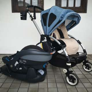 Bugaboo Bee 1, BeSafe iZi Go and a ton of accessories