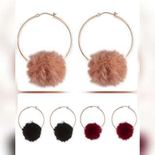Fur Ball Dangle Earring