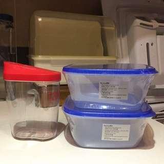 微波爐盒2個/方糖盒1個