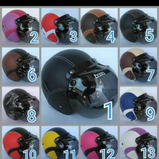 Helmet retro + round visor