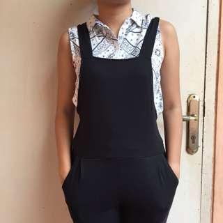 overall black / jumpsuit