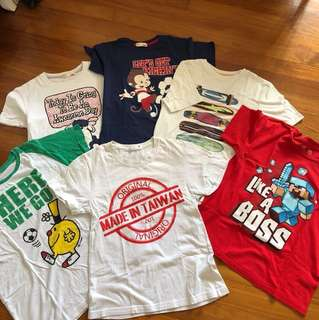 T-shirt bundle for boys 9-11 years old