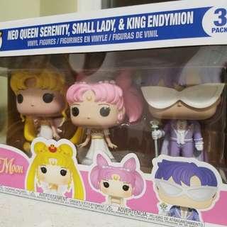 Pop!x Sailormoon 美少女戰士限量版一套三款公仔擺設水晶宮殿月野兔倩尼迪禮服幪面俠