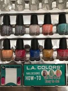 10 small bottles nail polish