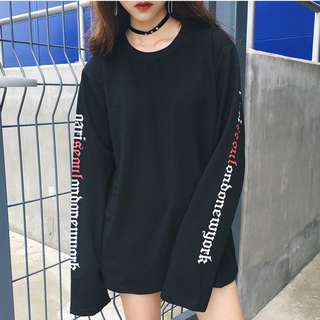 Korean Ulzzang Letters Long Sleeve Top