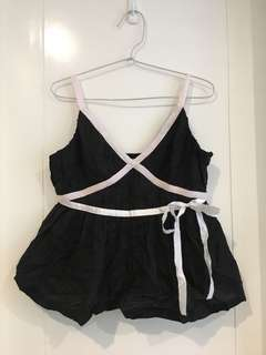 RAOUL Babydoll Black Top