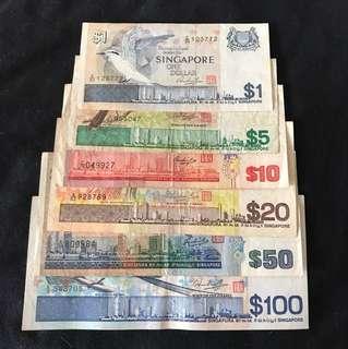 Bird Series $1 to $100