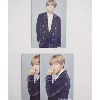 BTS Official The Wings Tour Final Concert Mini Photocards - V