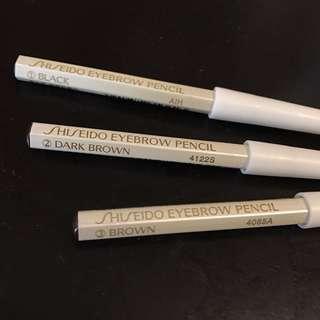 shiseido eyebrow pencil 1) black 2) dark brown 3) brown 全新 包郵