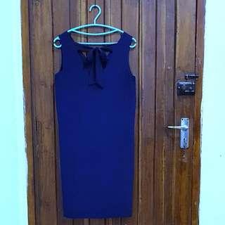 Preloved PROMOD Dress (Navy Blue)