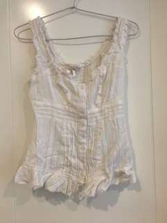 GUESS babydoll white top