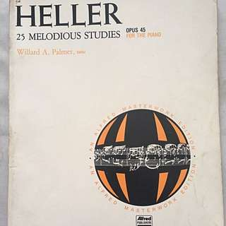 Piano music book by Heller