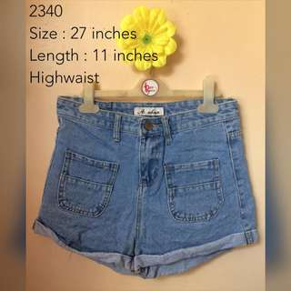DENIM SHORTS 2340