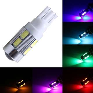 T10 Led 10 SMD 5630 5730 w5w with projector Canbus error free or Non-Canbus Red / Blue / Green / Yellow / Pink / Ice Crystal Blue / White