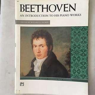 Piano music sheets - Beethoven