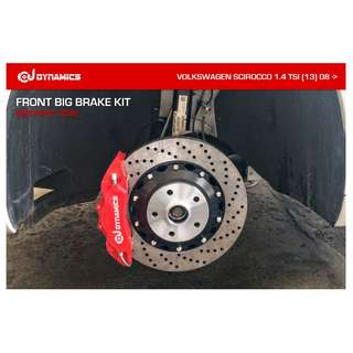 CJ DYNAMICS FRONT BIG BRAKE KIT (BIG 6-POT, 356) ON VOLKSWAGEN SCIROCCO 1.4 TSI (13) 08 ->