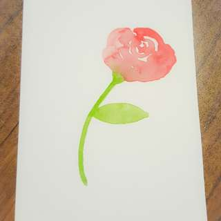 Watercolour Roses Card, Customisable