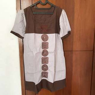 Brown Dress No Brand
