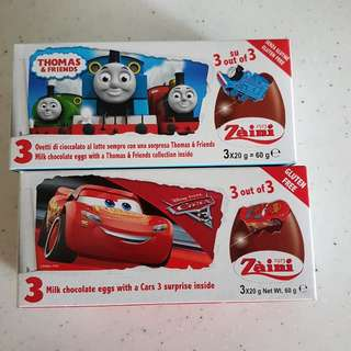 Disney Cars / Thomas Train chocolate egg with surprise toy