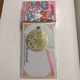 (包郵) 🌸櫻花 圓書簽 Golden bookmark