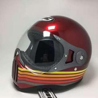 Helmet cakil HBC strip maroon