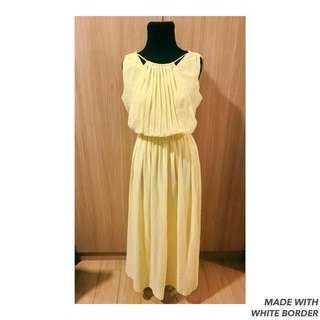 Greek-inspired Yellow Dress