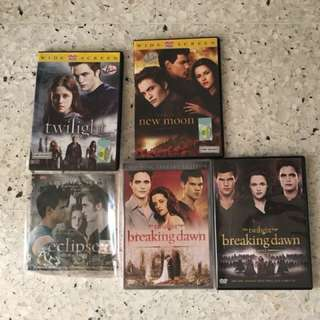 Twilight series DVDs