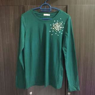 MIGHTY MARCH'18 SALE-PADINI EMBELLISHED BLOUSE IN GREEN