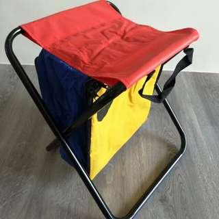 Foldable bag stool