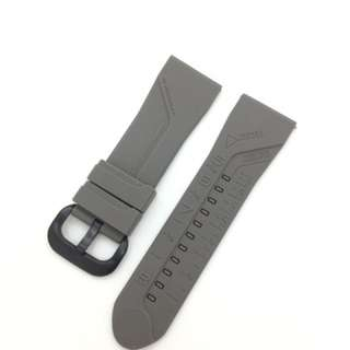 28mm Grey Silicon Rubber Replacement Watch Strap Watchband for Sevenfriday