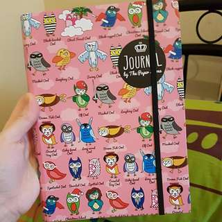 Paper Stone Notebook Owl theme