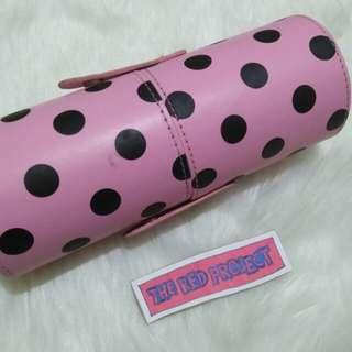 11 pcs Pink Polka Dot Brush Set