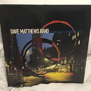 Dave Matthews Band - Crowded Streets - LP vinyl Autographed