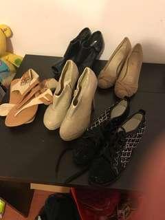 beige & Black - various ladies shoes