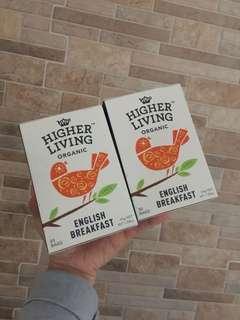 英國HIGHER LIVING ORGANIC有機茶包$25一盒$45兩盒