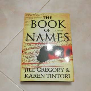 The Book of Names, by Jill Gregory and Karen Tintori (Hardcover)
