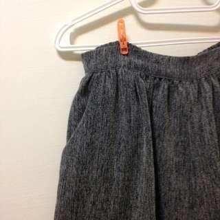 質感超好復古深灰褲裙٩(๑❛ᴗ❛๑)۶