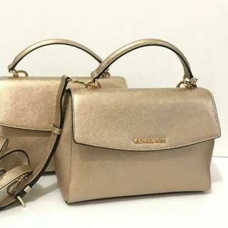 Michael Kors Ava Small Pale Gold