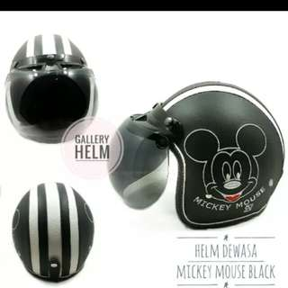Helmet mickey mouse leather