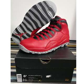NEW nike air jordan 10 x BULLS OVER BROADWAY US 8.5 chicago red james kobe curry jersey