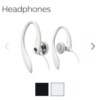 Phillips SHS3200WT Flexible Earhook Earphone Sports White