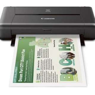 Canon Portable Printer IP110 without battery