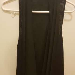 COCOLÀTTE Black Cotton Jacket Size 8 AU