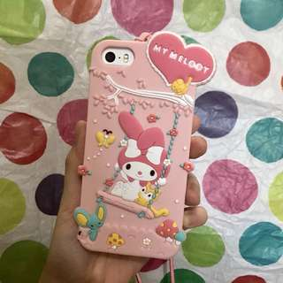 MY MELODY SILICONE IPHONE 5 5s SE CASE