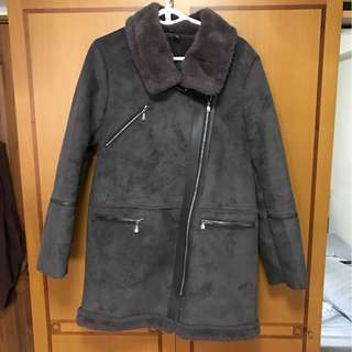 BN Korean Stylish Winter Outer Coat In Dark Grey (Imported, Not Avail In SG!)