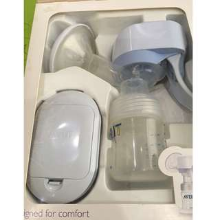 Philips Avent Single Electric breast pump like new with free breast pads