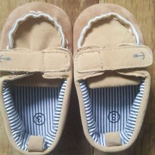 Brown baby shoes