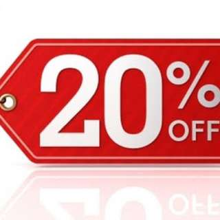 ALL ITEMS 20% off..