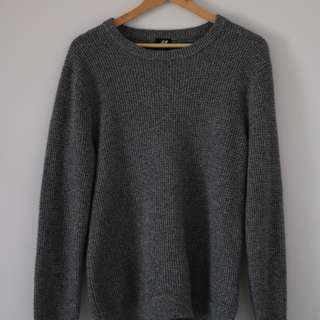 H&M Grey Knitted Sweater (Cozy & Comfy)