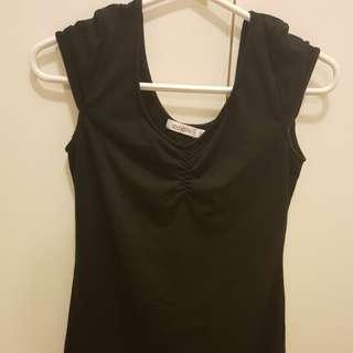 COCOLÀTTE Black T-Shirt Dress Size 8 AU